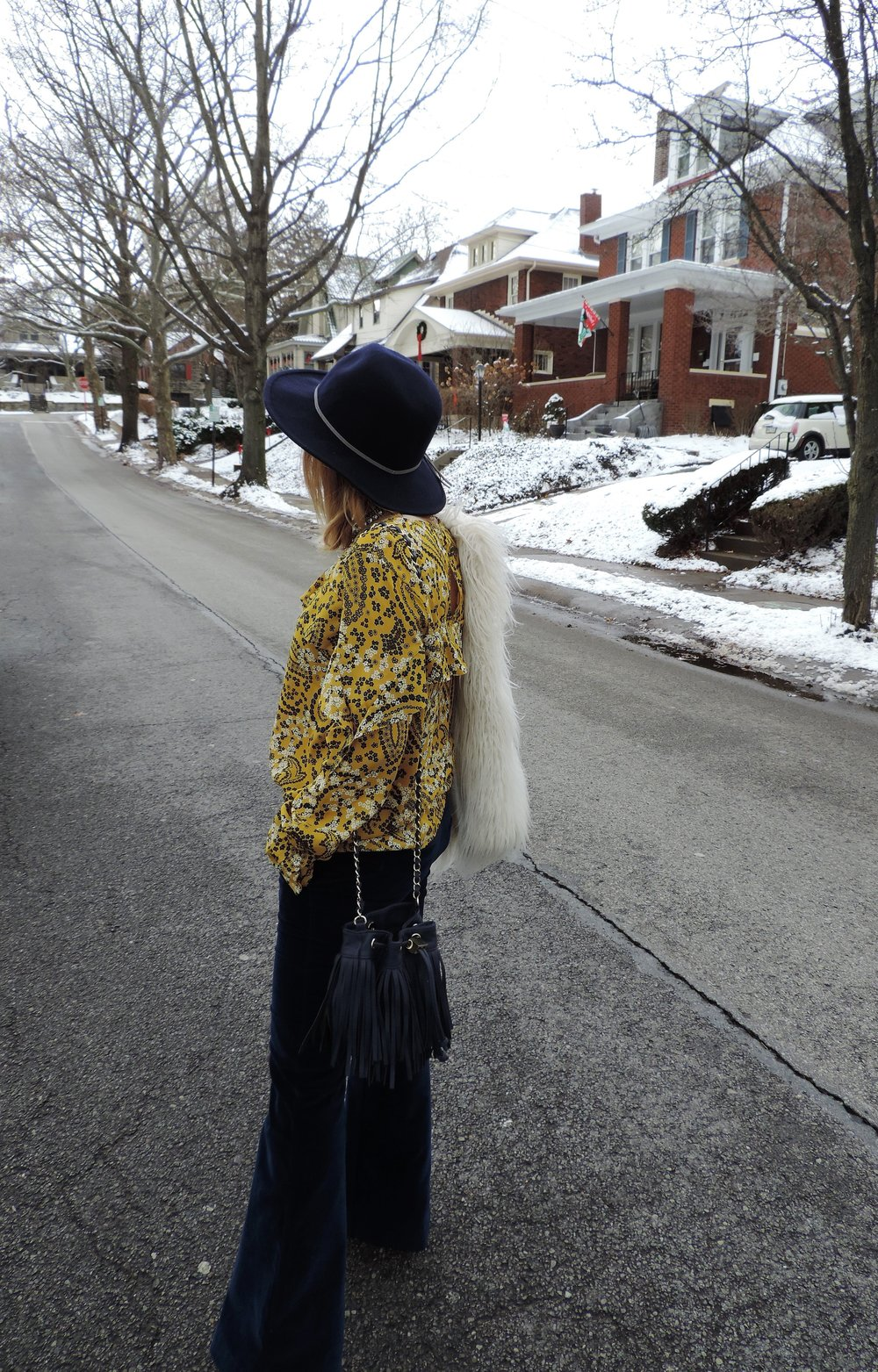 the perfect outfit for a dreary winter day