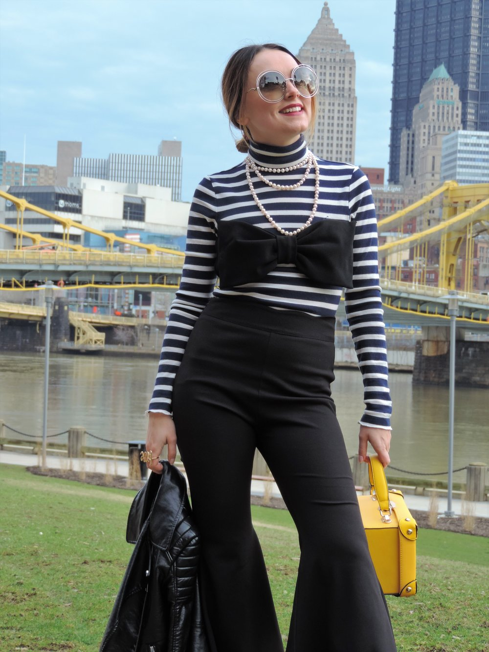 how to style flared pants