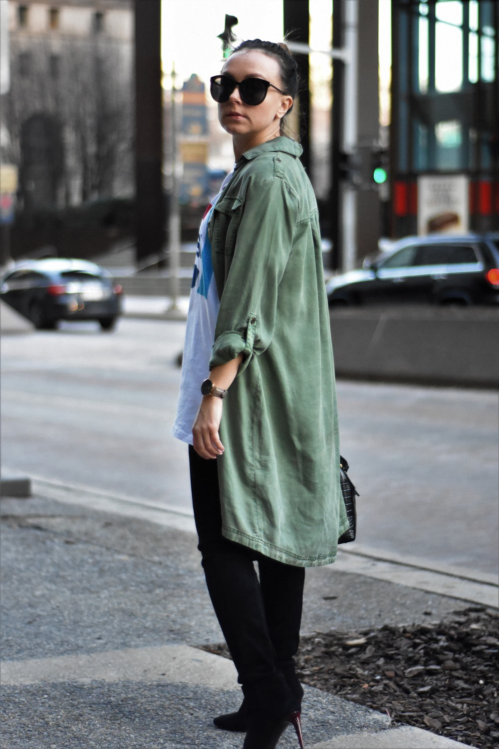 how to style a shirtdress