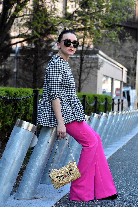wide-leg pants outfit ideas