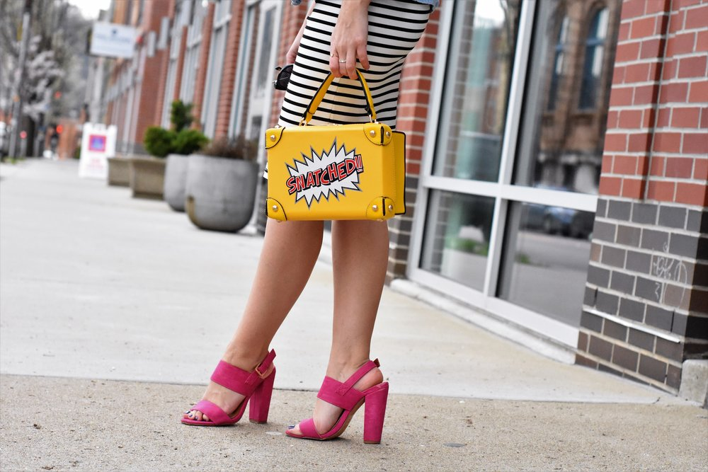 snatched yellow purse