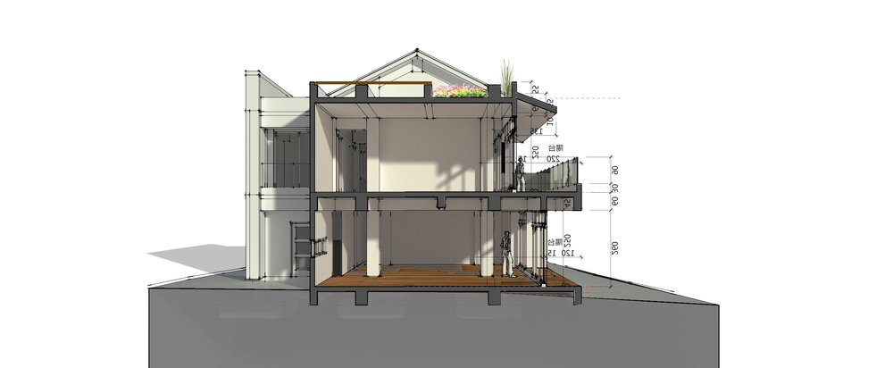 為適應南方的氣候,深凹窗、大陽台及反樑雙層屋頂,成為設計中很重要的部分。