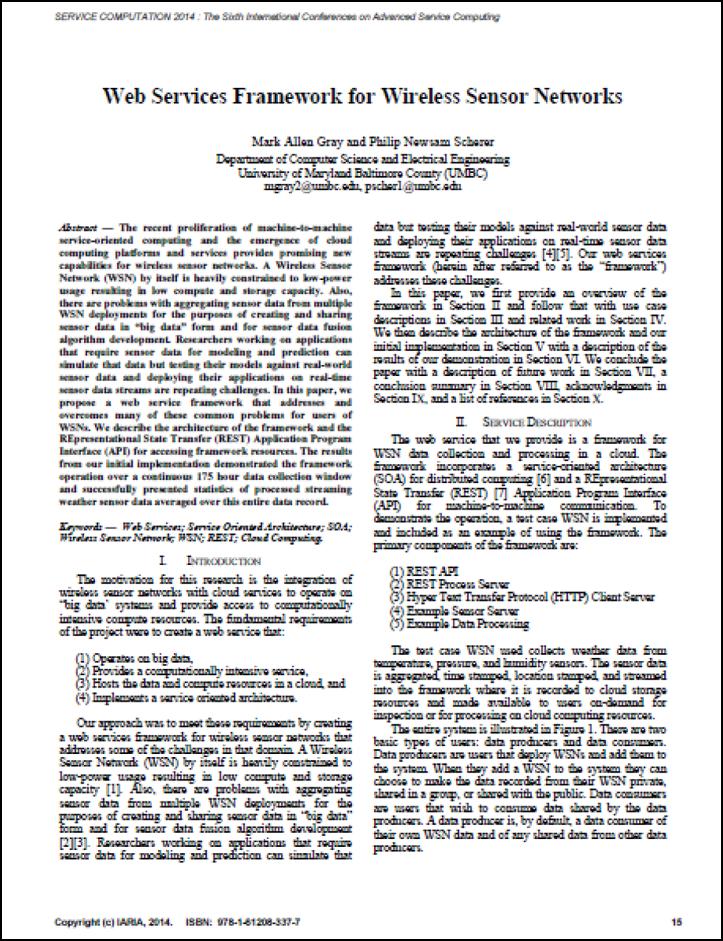 Web Services Framework for Wireless Sensor Networks