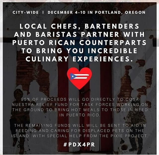 Hey! Today from 11-6 we have two wondering PR baristas taking over our bar as we support @pdx4pr 100% of the funds will go back directly to PR. Come support, have some delicious coffee, churros, music, & dominos! We'd love to see you & see our community support those in need! #pdx4pr #peoplelovingpeople