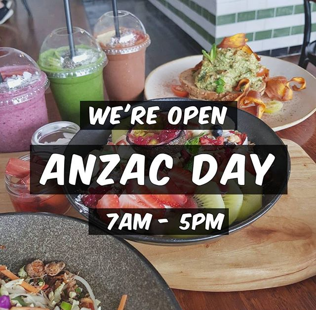 Join us for all day breakfast & lunch on ANZAC Day! 🌿🌿🌿 #thecolonelsson #blackrock #bayside #melbourne #melbournecafe #melbourneeats #cafe #breakfast #brunch