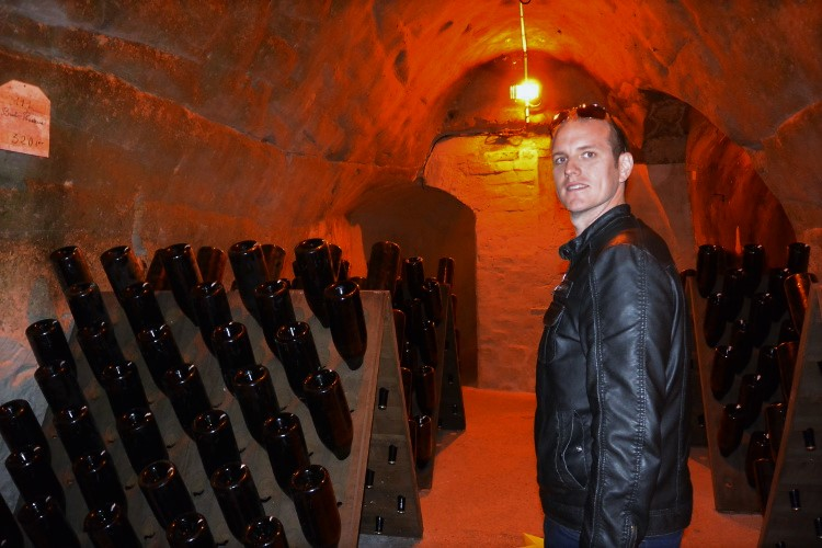Les caves at Taittinger