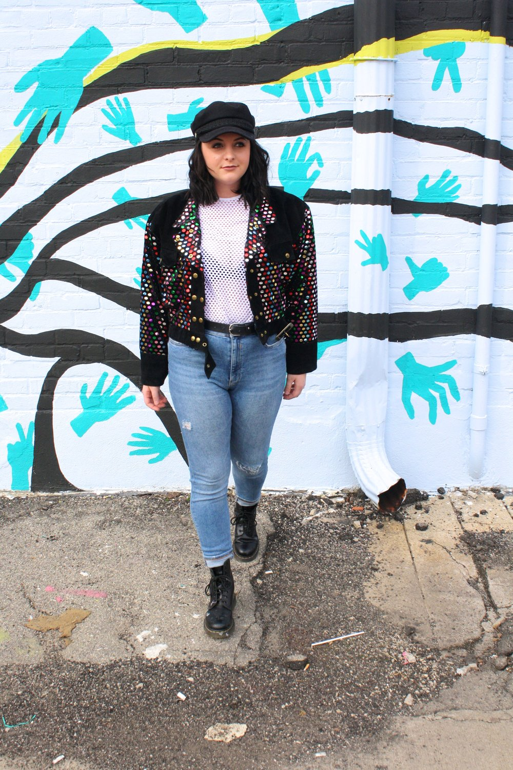 884480b5 Wearing: Marbles Vintage jacket | Depop hat and jeans | Poshmark t-shirt  and boots