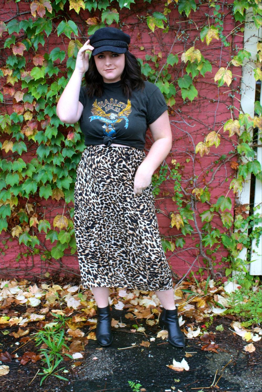 a4997852eee0 Wearing: Zara skirt | Vintage tee | Target booties | Depop hat