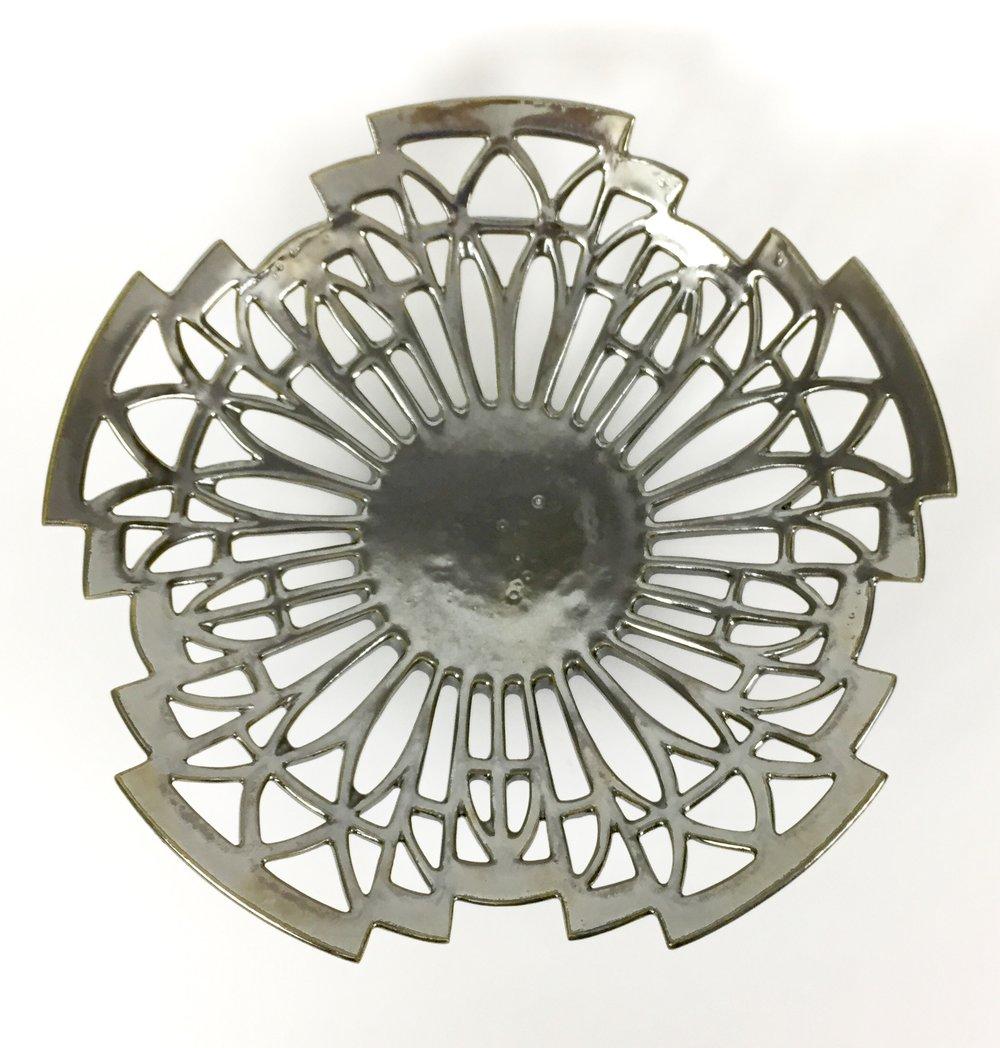 Art Deco Bowl in Rusty Silver