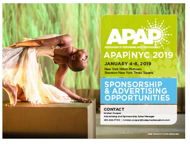 Check out our Founder, Jade Solomon Curtis in an @apap365 ad for the upcoming 2019 conference in NYC! Thanks to the APAP team for promoting and supporting the work of Solo Magic. #solomagic #getonpace #wędødōpéšhït #blackdancers #blackchoreographers #apap2019 #blackgirlmagic