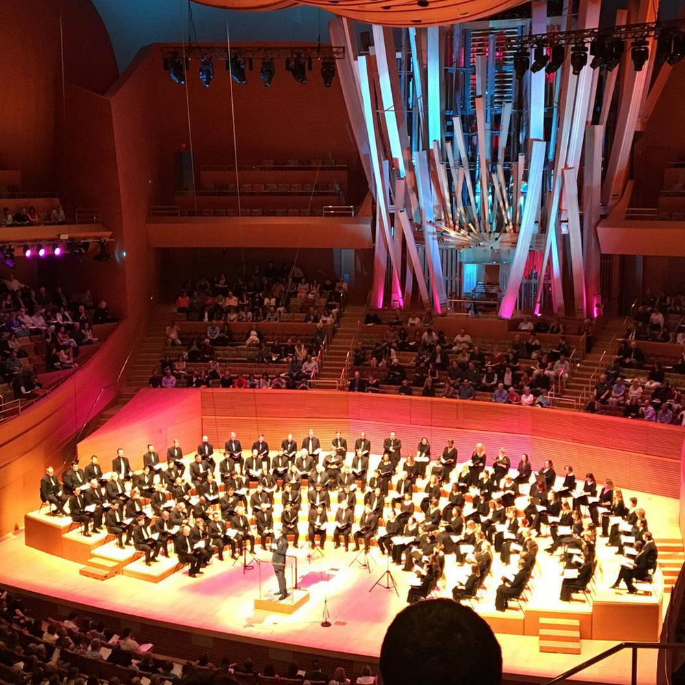 The LA Master Chorale performing inside Walt Disney Concert Hall on Sunday June 5 2016 (image via  @adriatic6 )