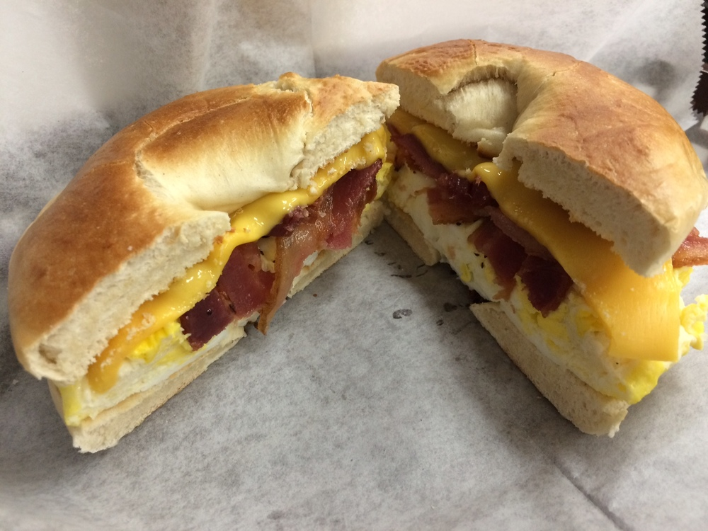 Steaming hot, bacon-filled poetic mediocrity from J&P Deli. Photo by Dan Johnson.