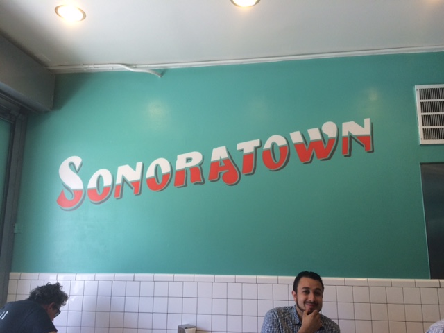Sonoratown's beautiful hand painted sign. Photo by Dan Johnson.