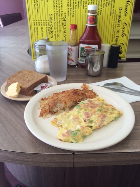 The Denver omelette at the Monte Carlo Cafe is unapologetically affordable in a wage-raising era. Photo by Dan Johnson.