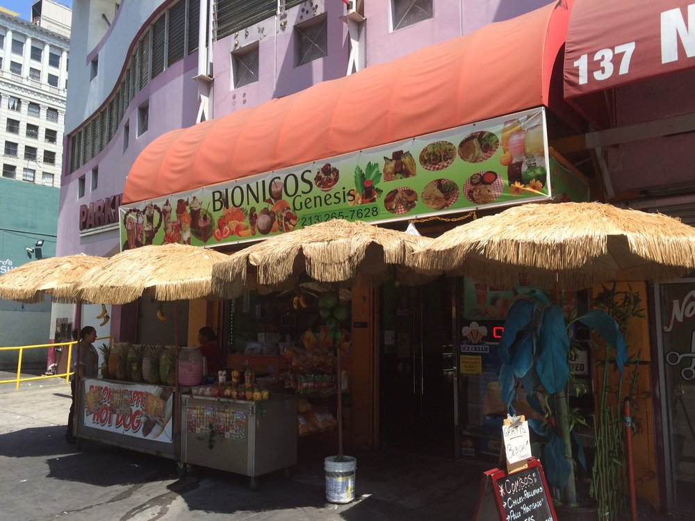 Bionicos Genesis' palapa-clad entryway is a portal into a dizzying mind warp of a local eatery. Photo by Dan Johnson