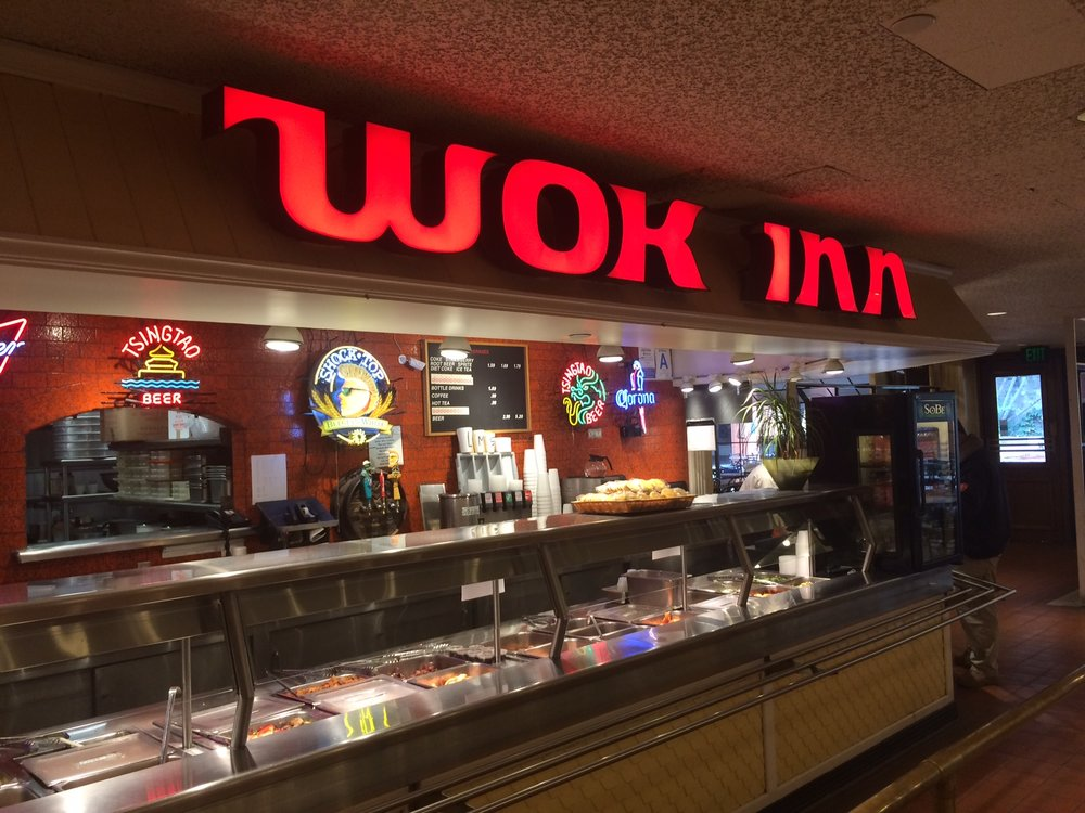 The only smile to be found in the den of despair that is the Los Angeles Mall is at Wok Inn. Photo by Dan Johnson.