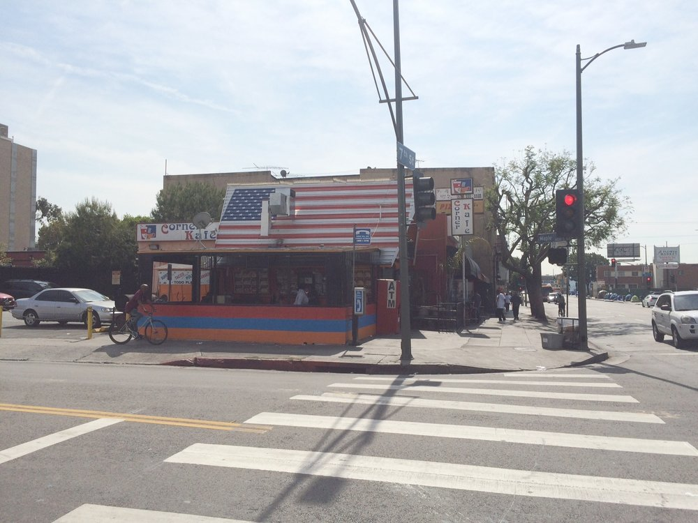 Corner Kafé on 7th St is a place where you will definitely find an American flag roof but not necessarily a sense of dignity. Photo by Dan Johnson.