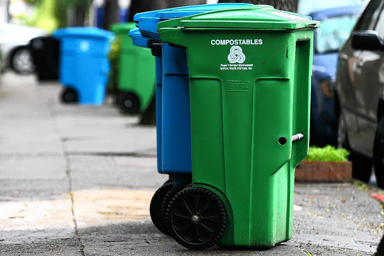 Composting, food diversion, and other more sustainable features are coming to everyone in LA as part of the City's Zero Waste LA plan. (image via Wall St Journal)