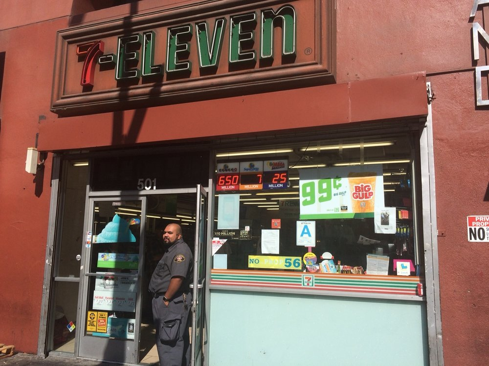 "7-Eleven — a prolific producer of 5th St dystopia porn — was the author's final stop on his inaugural ""Taste of Fifth Street"" gastronomy tour. Photo by Dan Johnson."