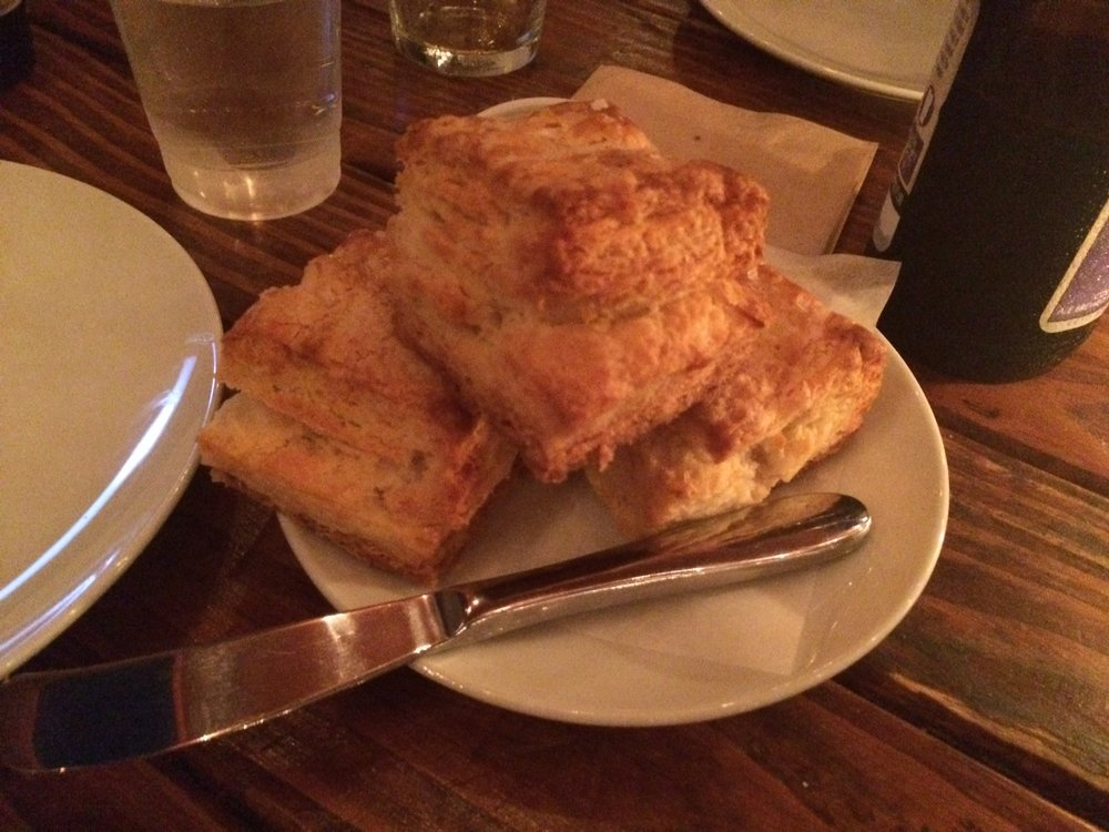 Superlative biscuits at Everson Royce Bar are cheaper than they should be given the overall chi-chi atmosphere of Everson Royce Bar...perfect for 8.72. Photo by Dan Johnson.