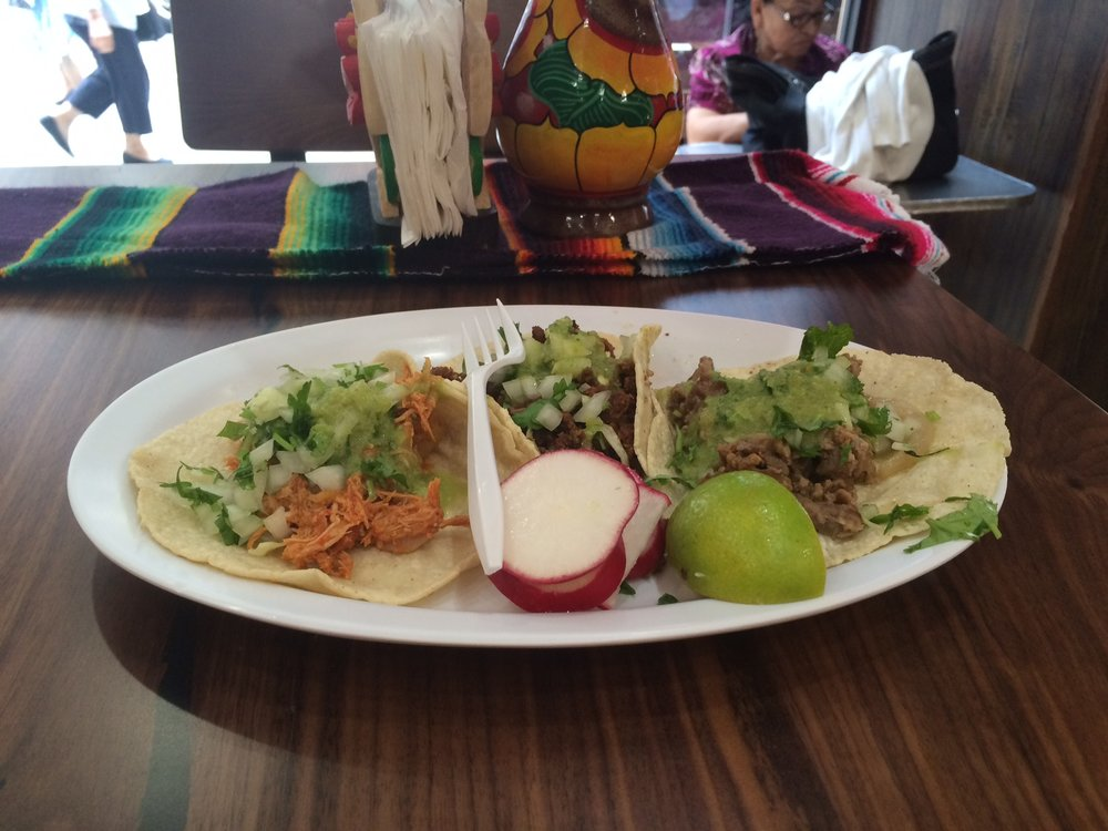 These beautiful,affordable and delicious tacos are the main attraction at Juanita's Cafe... or is it Tacos Acapulco...it doesn't really matter because it's actually the same. Photo by Dan Johnson.