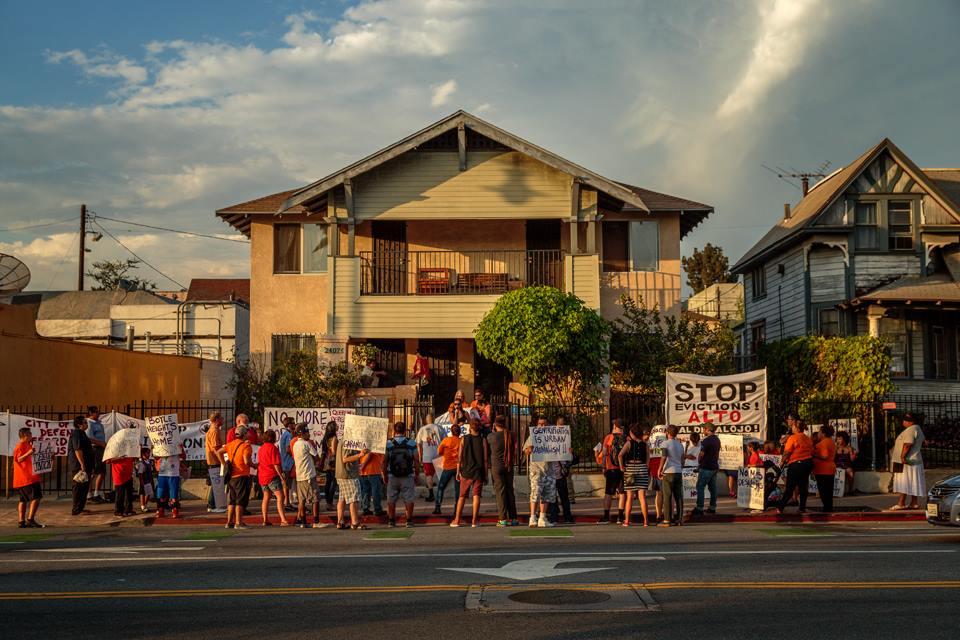 An LA Tenants Union action in Boyle Heights. Image via LATU.
