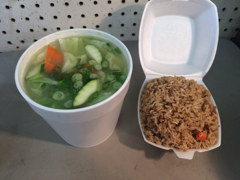 The wonton soup at ABC Chinese Fast Food is chock full of fresh vegetables and not-chewy-weird wontons. Photo by Dan Johnson.