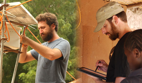Photograph: Devergy's founders Fabio De Pascale (left) and Gianluca Cescon at work in TanzaniA