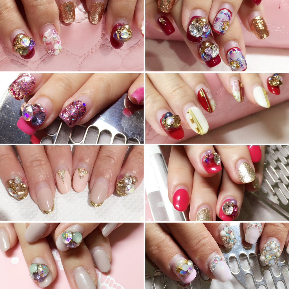 Here's a collage of just some of the nails which are all good and perfect even after 1 month or longer! There are many others which we didn't manage to take photo of the condition when our customers return for removal. With the right skills and products, we at Nail Haven are able to create these long lasting pretty crystal clusters for you.  Of cos, not everyone can take long nails with relatively bulky nailart for a long period of time, due to different kinda activities using your hands. But sometimes, isn't it just fun to try out new designs especially if you love to have different kinda nailart on your nails every other month? :)