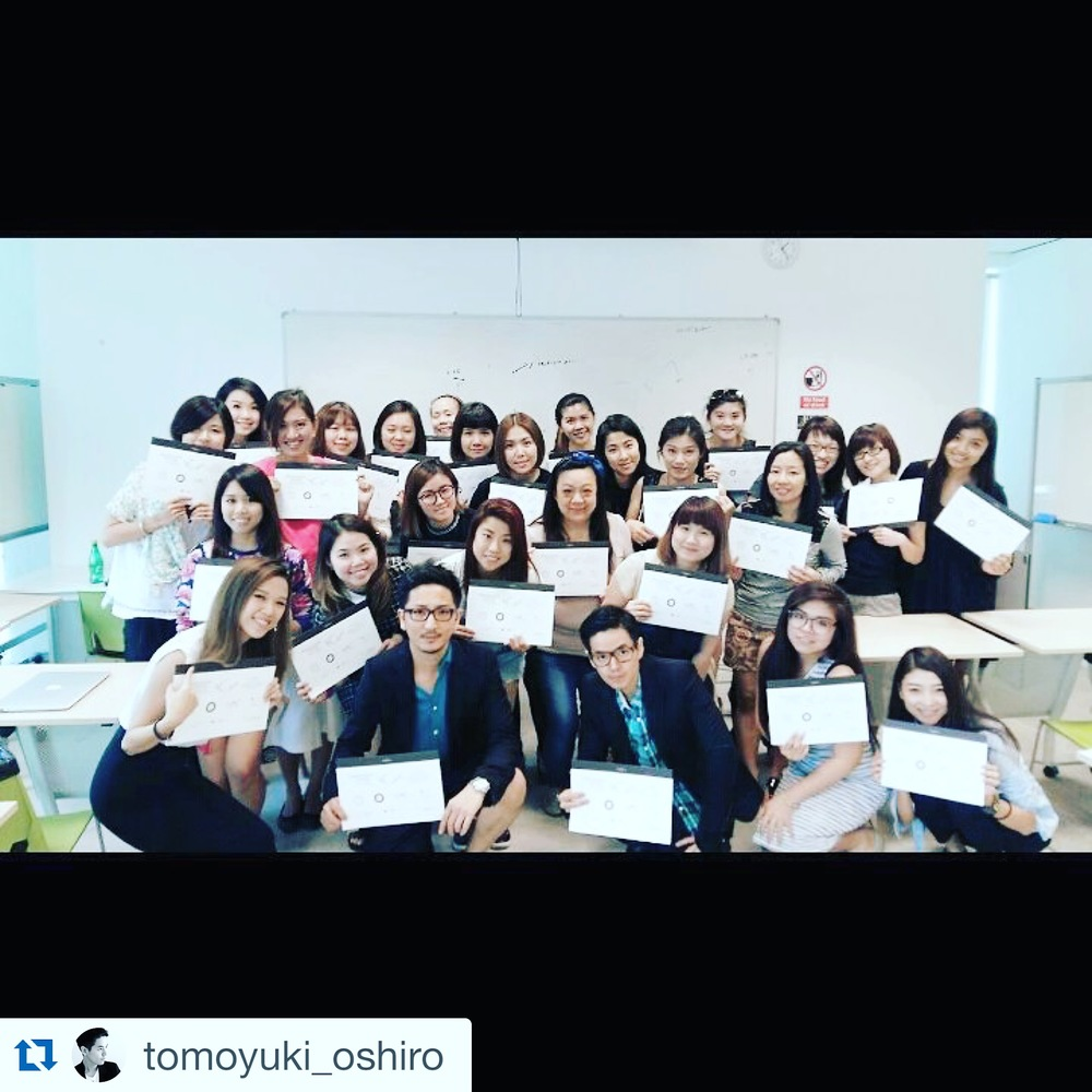 Group Photo of the demo class taken from Oshiro Sinsei's instagram