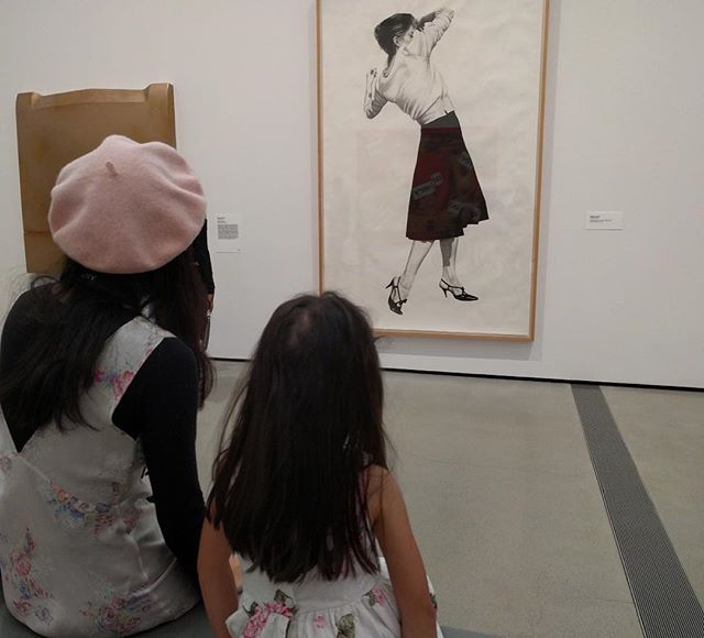 My niece and I getting inspired 👩🏻🎨