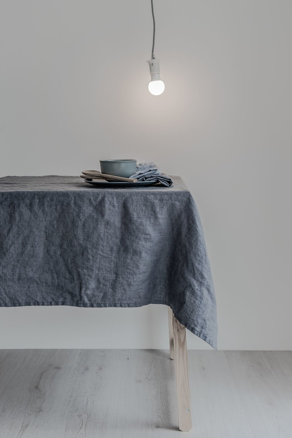 Linen Tablecloth Charcoal 140 X 330cm