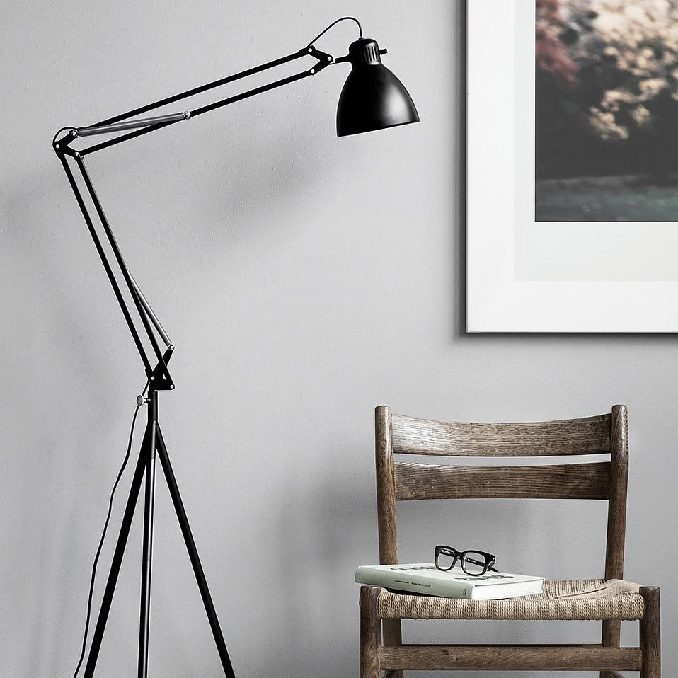 MOEBE STAND Floor Lamp Black   Pretty much everything about this floor lamp is perfect. A new and larger take on an architect's lamp that would look great anywhere in the house.