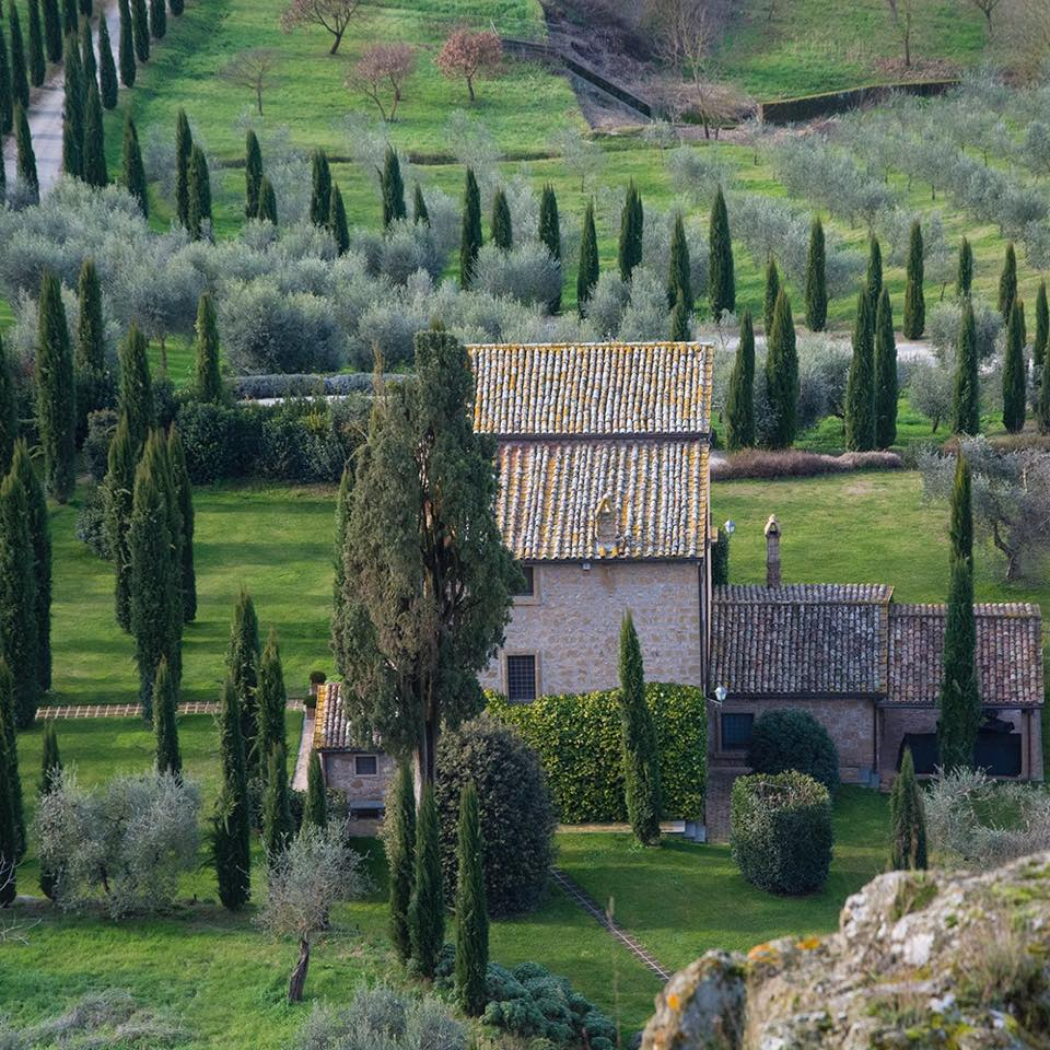 Umbrian villa (just below the cliff of Orvieto) (Photograph by Scott Wilson).