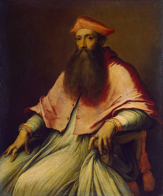 Portrait of Cardinal Reginald Pole (1540s) by Sebastiano del Piombo (The State Hermitage Museum, Saint Petersburg, Russia)