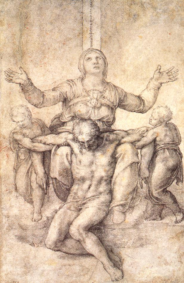 Michelangelo's drawing is one of the treasures in the  Isabella Stewart Gardner Museum  in Boston.
