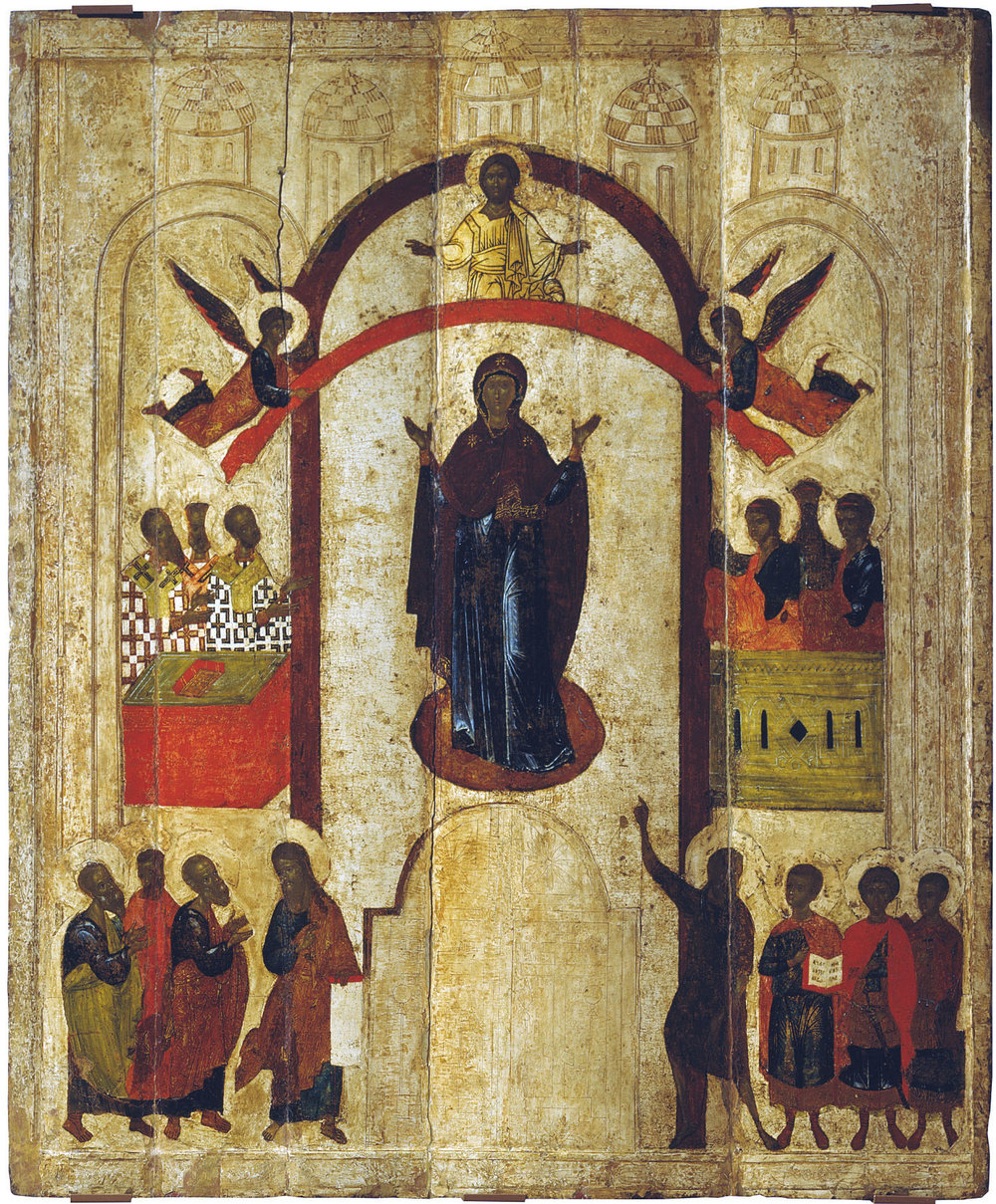 The Pokrov (Protection of the Mother of God) icon, Novgorod, 1399