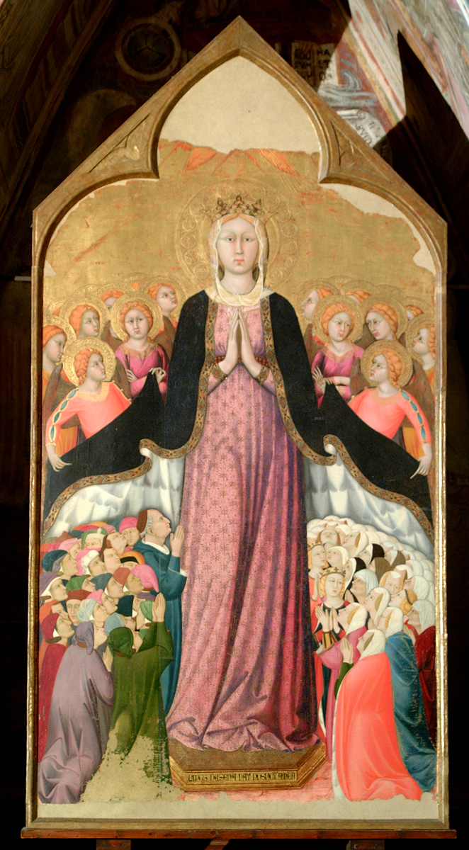 Lippo Memmi,  Madonna della Misericordia  (c. 1320) in the Chapel of the Holy Corporal in the Orvieto Duomo