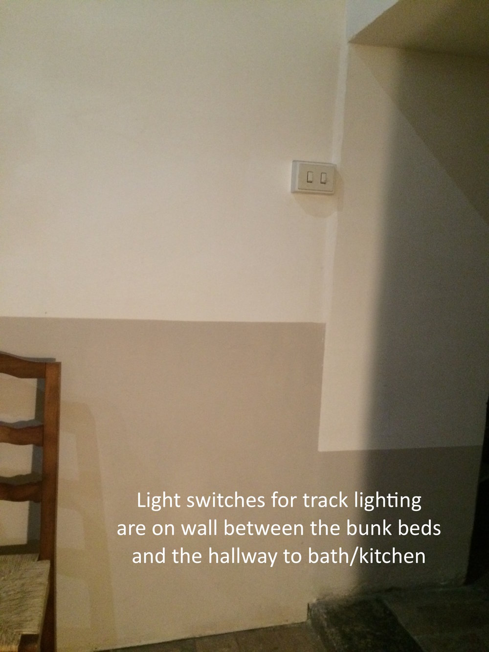 #17 Light switches for track lighting near bunk beds.JPG