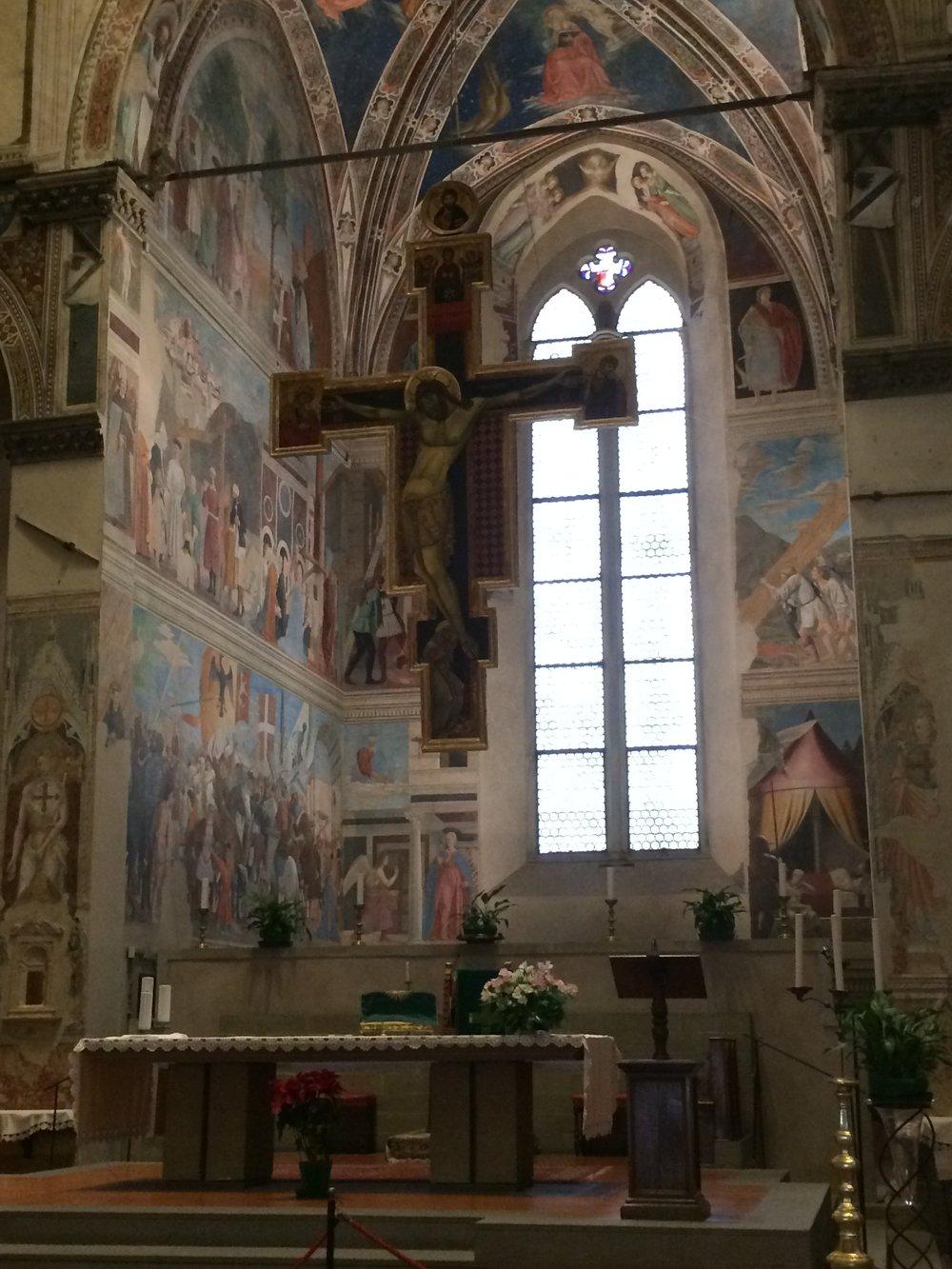 Piero della Francesca, Legend of the Holy Cross, San Francesco, Arezzo [author photograph]