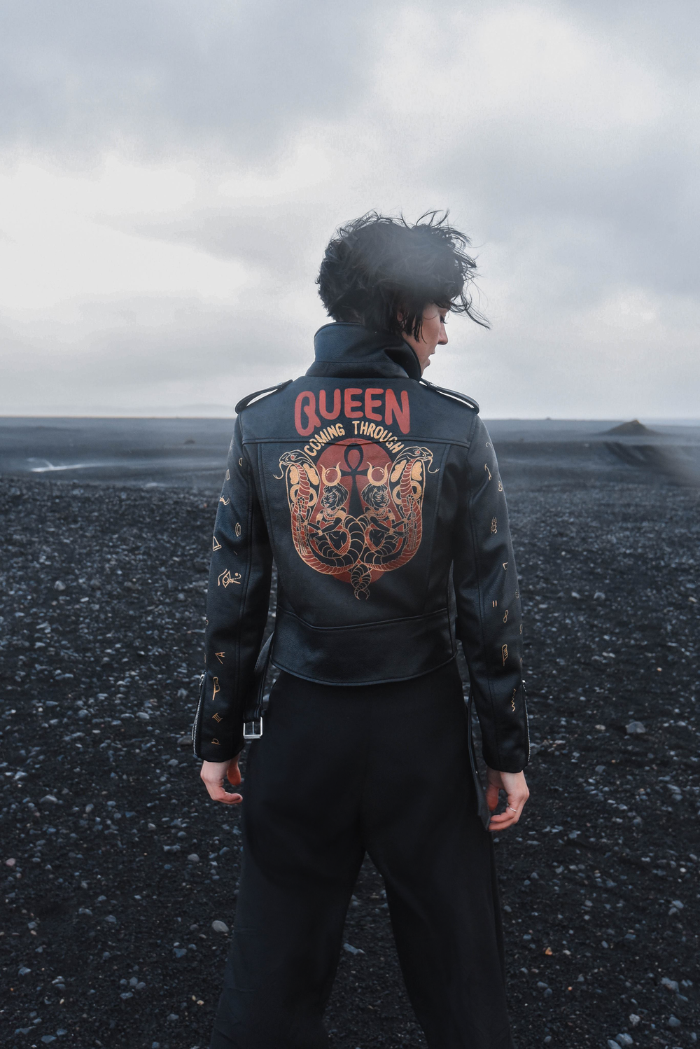 'QUEEN COMING THROUGH' Image by  @lauramannersdesign  Jacket by  @birdbirdbirdbirdisthe