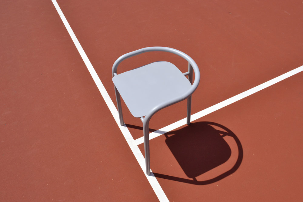 Marine Le Razavet x Jacques Colloc - 3 legged chair from the Trei Collection