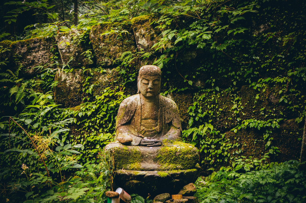 Acupuncture may not be part of a religion but this Buddha is gorgeous.