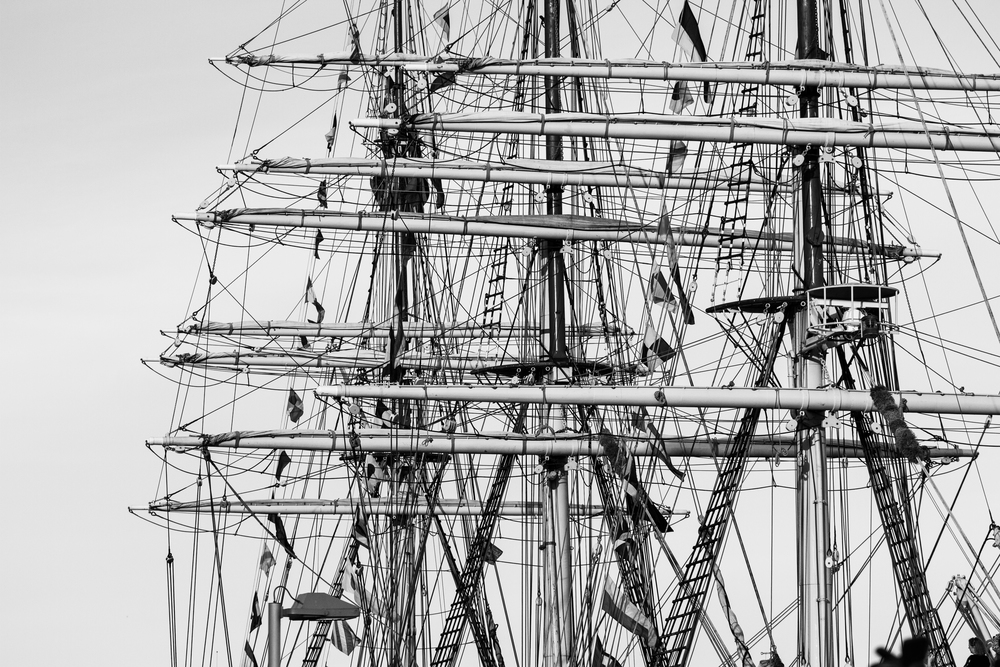 Masts on a tall ship seem the perfect analogy for your spine.
