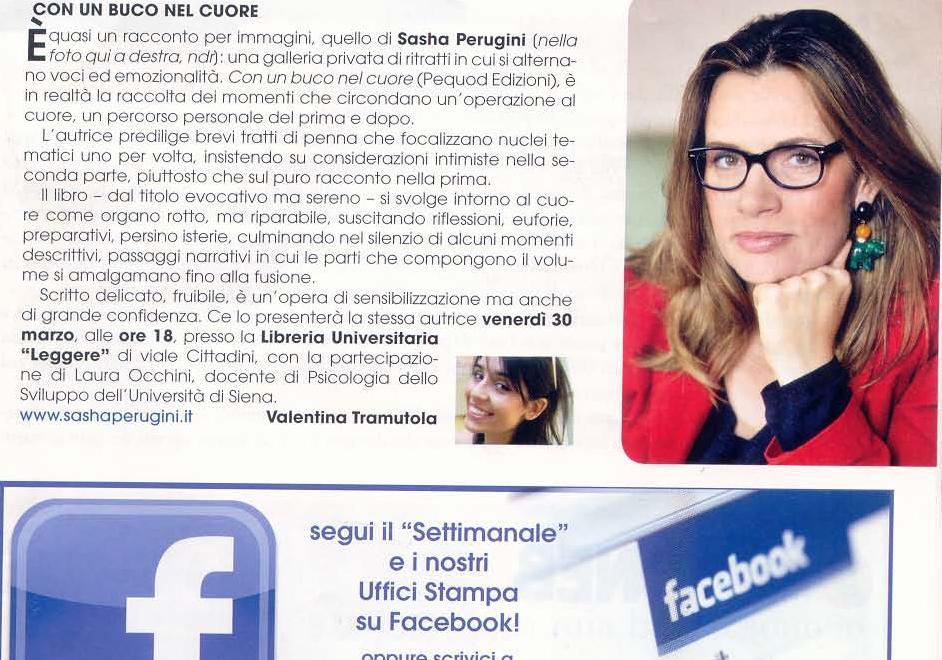 """Da """"Il Settimanle di Arezzo"""", 30 marzo 2012"""