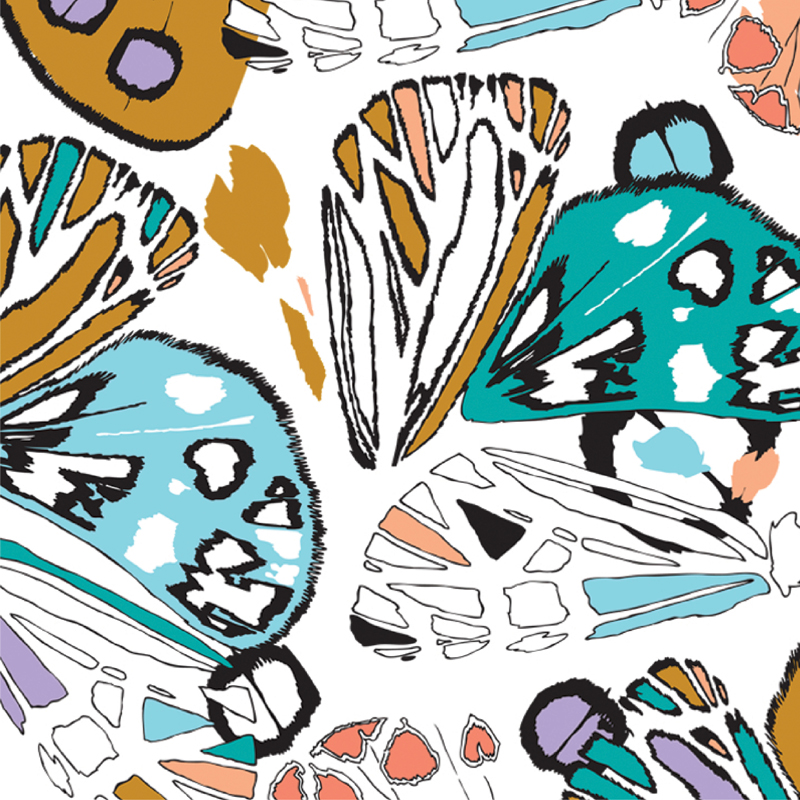 Gossamer Wings  graphic butterfly fashion print | SOLD