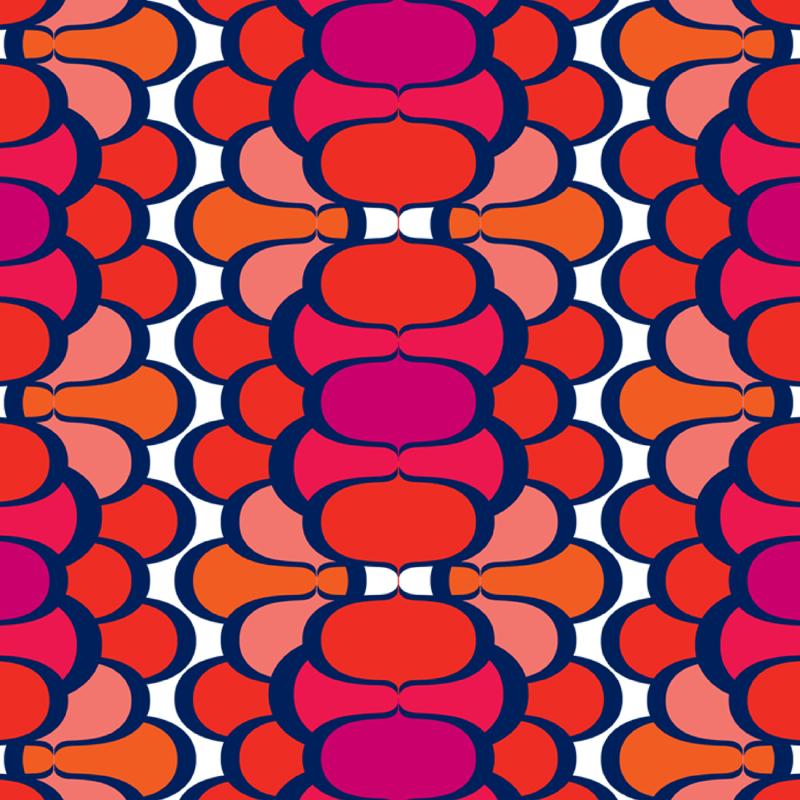Biba Bravia r etro geometric Fashion print | SOLD