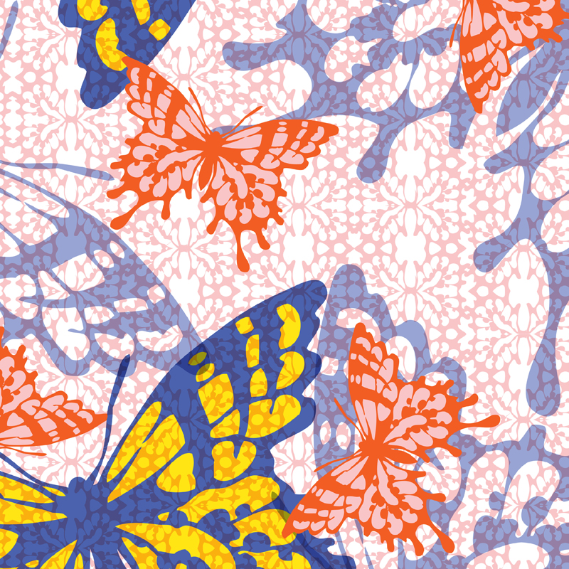 Papillion fashion print | SOLD