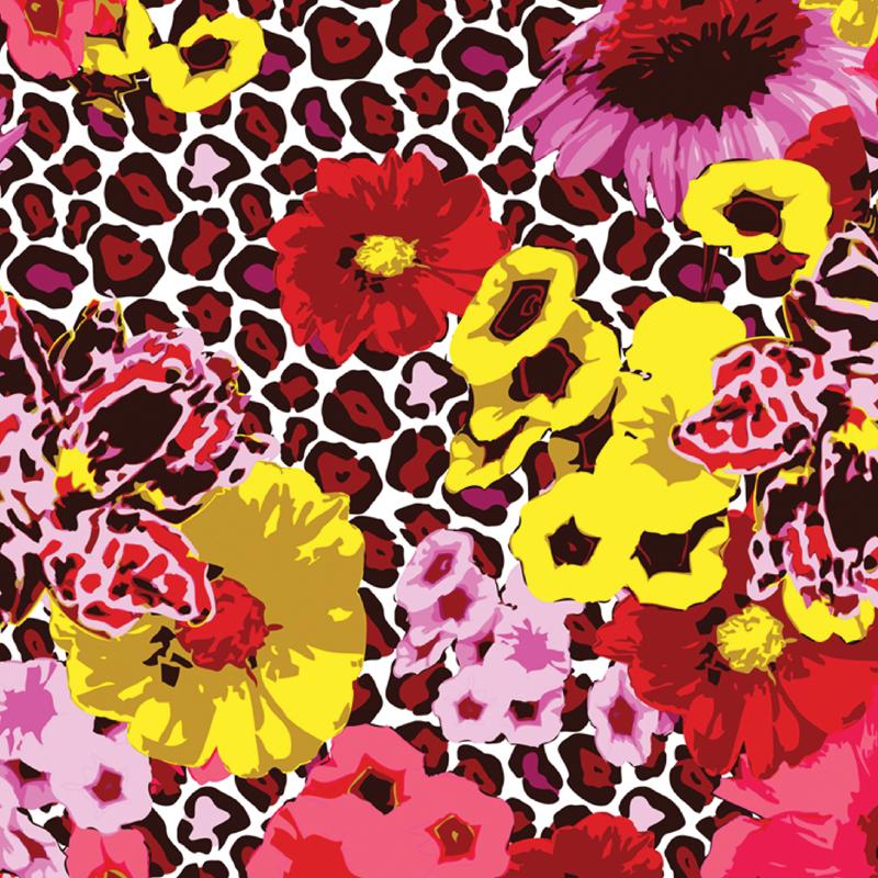 Wild Flower  graphic floral leopard fashion print | SOLD OneTeaspoon Swimwear