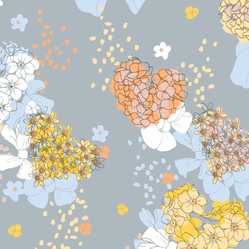 Daisy Days  floral yardage print | SOLD